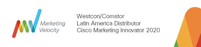 Comstor fue reconocida con el premio Innovator of the Year en el Cisco Marketing Velocity 2020.